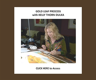 Gold Leaf Process with Kelly Thorn Dulka